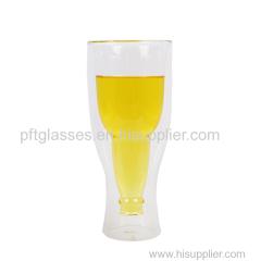 12 oz 350ml Creative Double Wall Beer Glass Water Bottle Hopside Down Beer Mug My Bottle Crystal Drink Mugs Cups