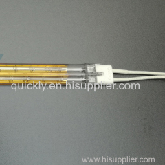 Twin tube quartz infrared emitter for drying