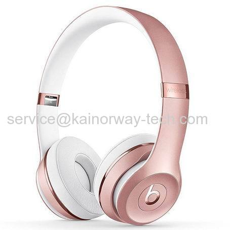 New Beats Solo3 Wireless On-Ear Sound Isolating Headphones With Bluetooth Special Edition Rose Gold