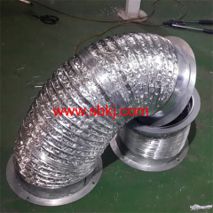 Aluminum-PVC/PET flexible ducting machine