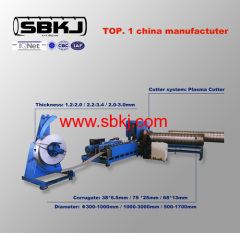 CSP Corrugated spiral metal pipe production line