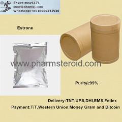 Crystalline Solid Estrone CAS:53-16-7 Raw Steroid Powders