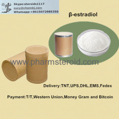 White Crystalline Powder β-estradiol CAS:50-28-2 Raw Steroid Powders