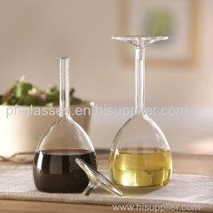 Wholesales hand blown Glass cruets condiment container sets