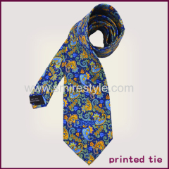 Top Quality New Paisley Digital Print Custom Design Silk Necktie for Men