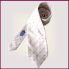 Latest Fashion custom Made Silk White Necktie