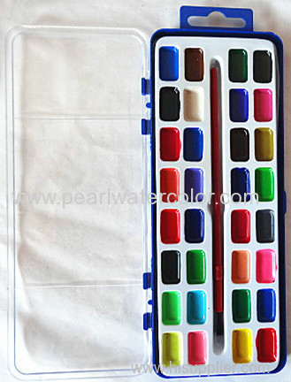 Semi Moist Watercolor Paint Palette for Children Drawing