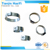 China supplie easy to use Stepless single ear small hose clamp