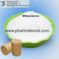 Pale Yellow Solid Raw Steroid Powders Mifepristone CAS:84371-65-3
