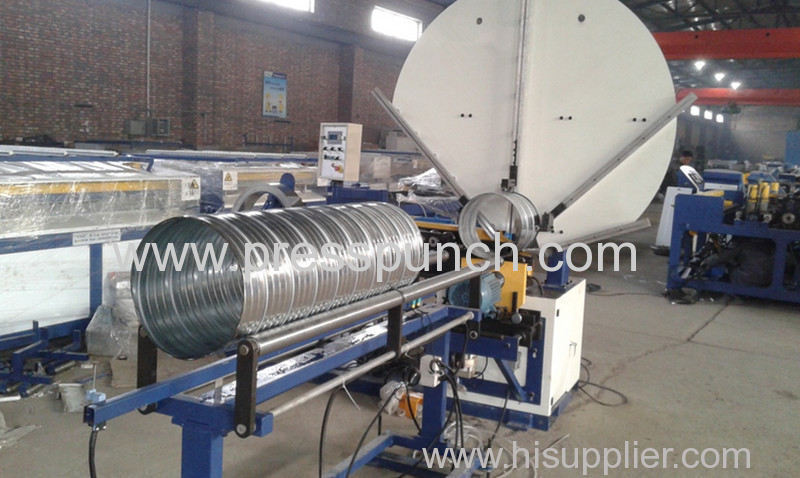 Spiral duct forming machine, Spiral duct machine ready for shipping