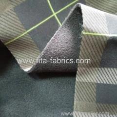 Softshell Fabric DWR Poly Twill Bonded Fleece