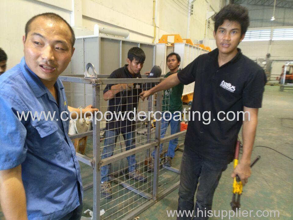 help custoner to install powder coating equipment