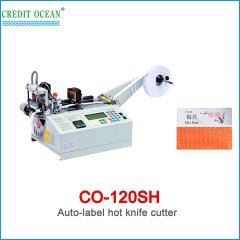 CREDIT OCEAN auto high speed woven label cutting machine