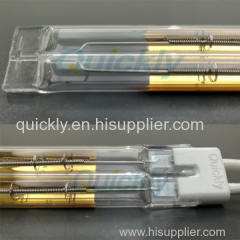 Twin tube heating infrared lamps