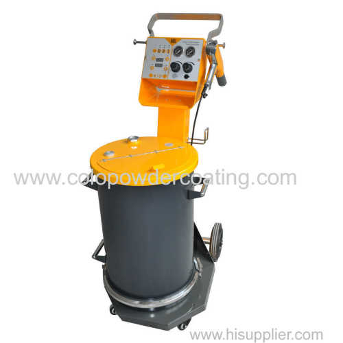 Manually powder coating spray gun