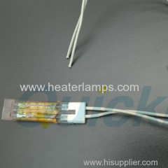 NIR heat lamps for glass bending