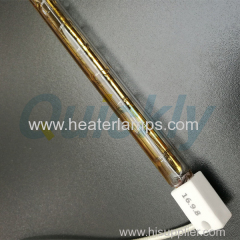 short wave infrared heater with 180° gold coating