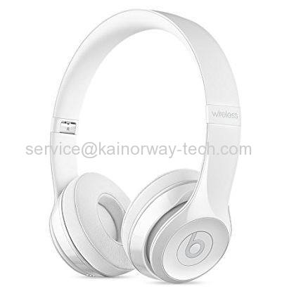 Beats by Dr.Dre Beats Solo3 Wireless Bluetooth Foldable Stereo Headphones Gloss White