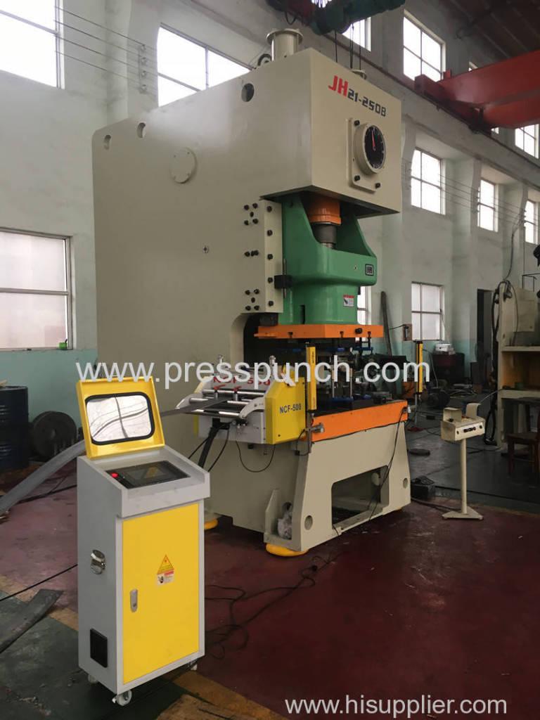 JH21 250Ton punching machine automatic feeding line shipped to Kuwait