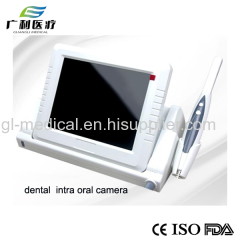 Dental intra oral camera with 15'' LED monitoring
