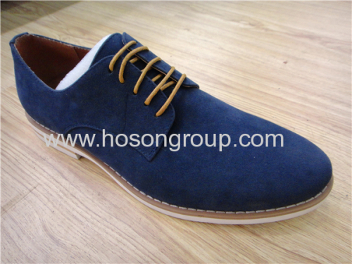 Office flat lace mens suede shoes
