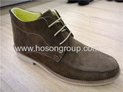 Suede lace mens ankle boots dark grey