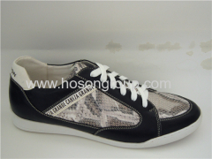 Snake texture mens soprts shoes