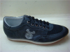Dark navy lace mens shoes