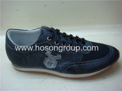 Dark navy lace mens sports shoes