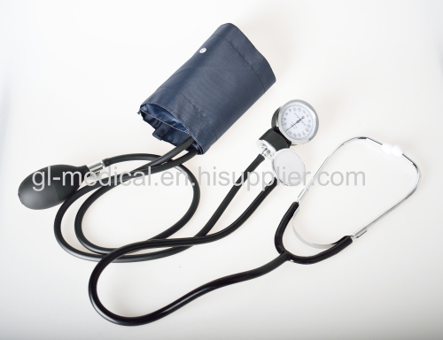 Medical  portable aneroid sphygmomanometer with stethoscope