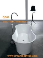 Solid surface bath tub