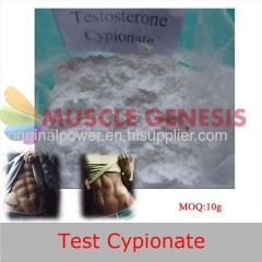White Crystalline Steroid Powder Testosterone Cypionate for Men Muscle Building
