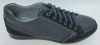 Grey lace flat mens sports shoes