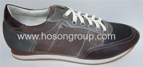White outsole mens casual shoes
