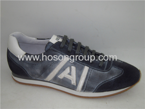 PU leather mens casual shoes