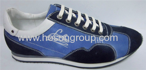 Blue mens flat sports shoes