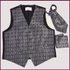 Durable eco Friendly 100% Silk Fabric Vest and bow tie set