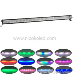 "500w 32"" straight OffRoad LED Light Bar RGB Chasing for Fog truck"