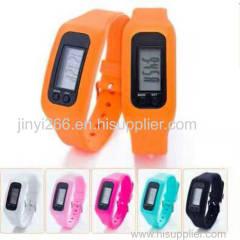 Fitness wrist bands calorie counter 3d wristband stopwatch pedometer