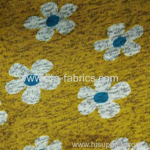 100% polyester printed coarse needle fleece fabric