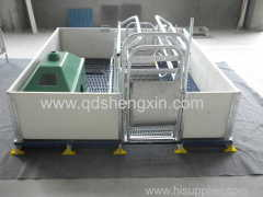 Single Farrowing Crate for pigs with PVC fence