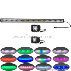 "240w Curved 42""truck Led Light Bar High Power chasing halo+2xPods Chaser RGB halo"