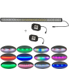 "240w straight 42""Led Light Bar Fog lamp Chaser RGB halo +2x flushmount Pods for Drving IP68"