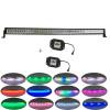 "Curved 288w 42""Led COMBO beam light bar Chaser RGB halo +2x flushmount Pods for Drving fog"