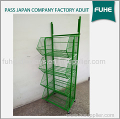 Metal Wire Potato Chips Snacks Display Stand and Racks
