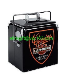 13L 17L Retro Steel Cooler Box with Bottle Opener metal ice chest cooler