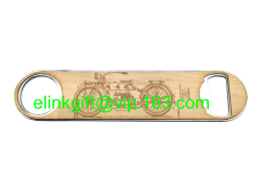 latest design beech wooden bottle opener with wood handle