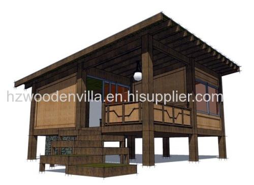 modern design prefab log house