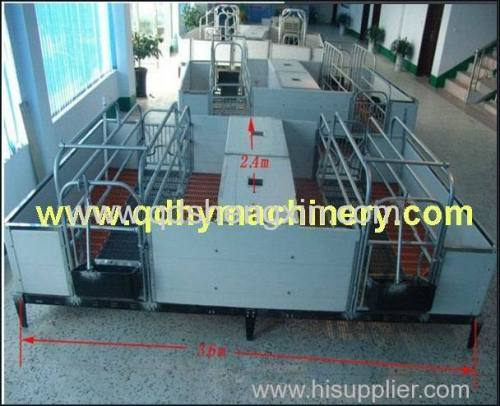 Double Sows Farrowing Crate with PVC fence
