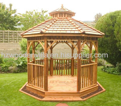 wooden rectangle outdoor gazebo pavilion
